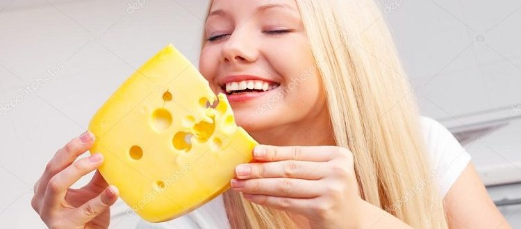 woman with cheese