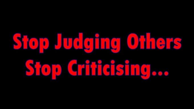 Stop Criticising