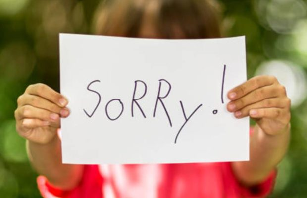 Never Force Your Child to apologize