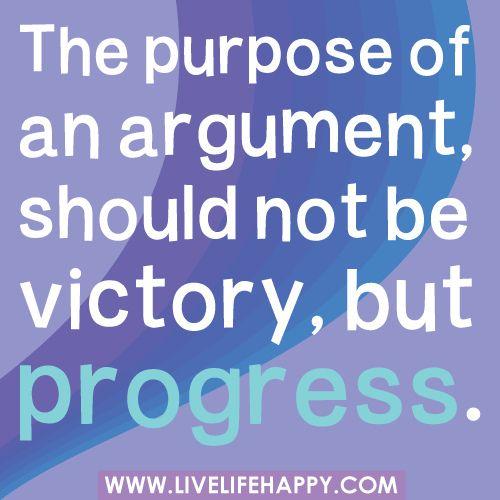 Purpose of Argument