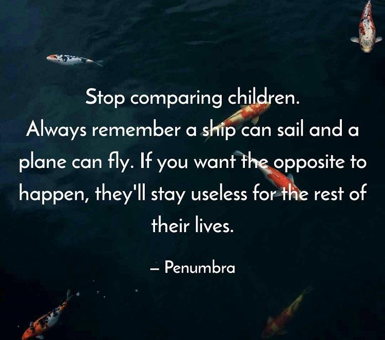 Stop Comparing Children