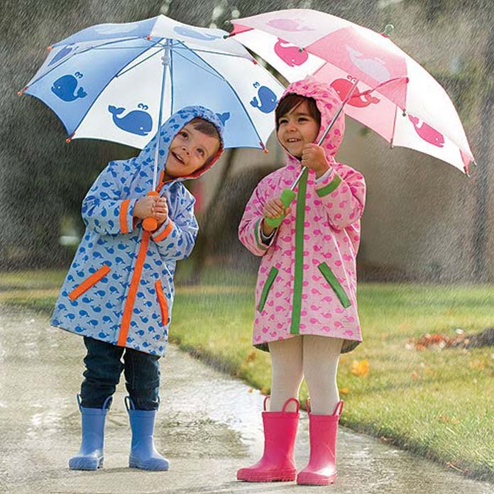 damp clothes to child