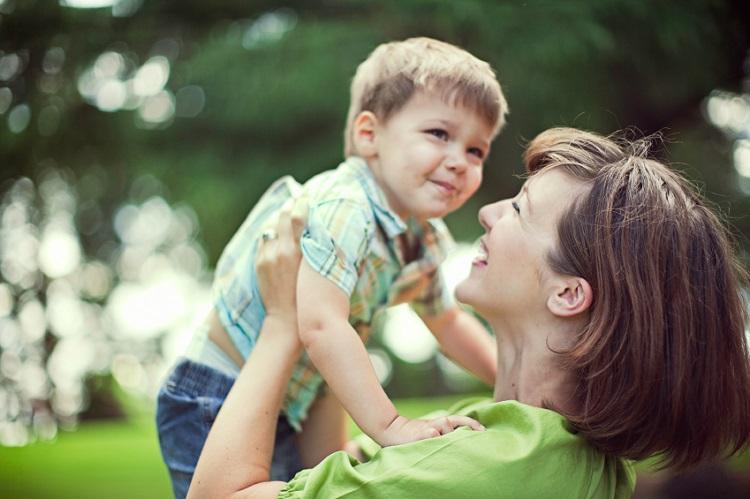 Hug child