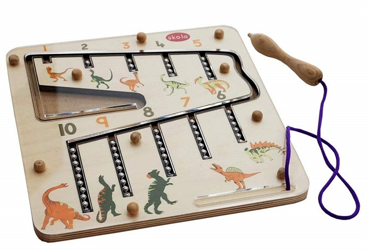 Dino Magnetic Number Maze