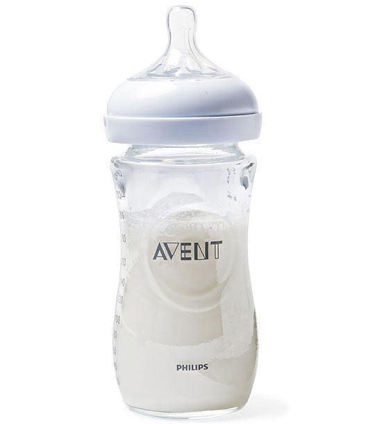 milk from bottle